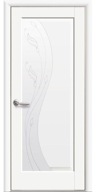 Межкомнатные двери Эскада со стеклом сатин и рисунком eskada-31