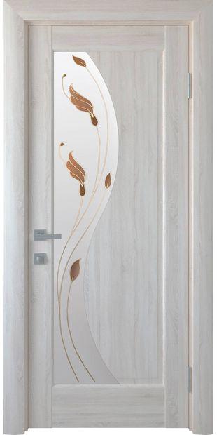 Межкомнатные двери Эскада со стеклом сатин и рисунком Р1 eskada-3