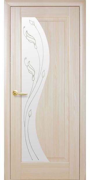 Межкомнатные двери Эскада со стеклом сатин и рисунком eskada-7