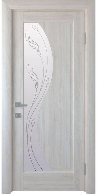 Межкомнатные двери Эскада со стеклом сатин и рисунком Р2 eskada-7