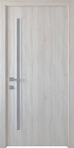 Межкомнатные двери Глория со стеклом сатин gerda-30