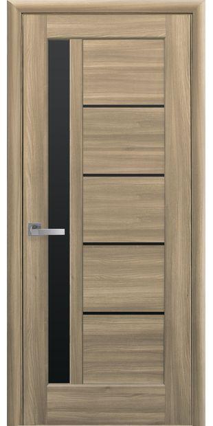 Межкомнатные двери Грета с черным стеклом greta-26