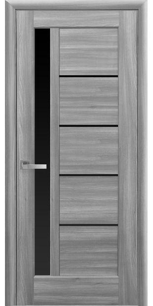 Межкомнатные двери Грета с черным стеклом greta-31