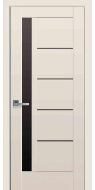 Межкомнатные двери Грета с черным стеклом greta-32