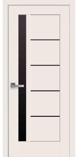 Межкомнатные двери Грета с черным стеклом greta-34