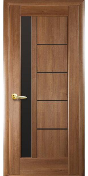 Межкомнатные двери Грета с черным стеклом greta-5