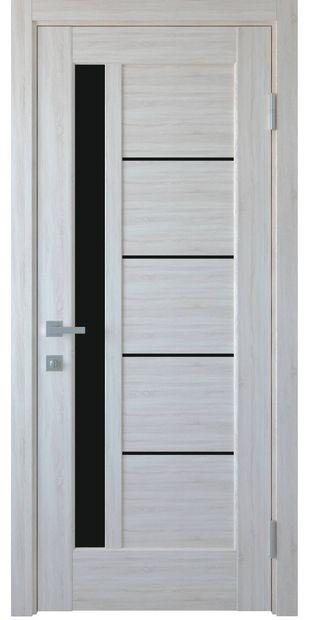 Межкомнатные двери Грета с черным стеклом greta-6