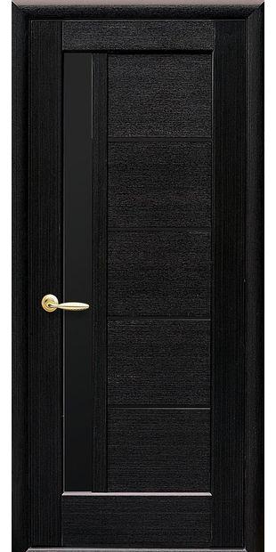 Межкомнатные двери Грета с черным стеклом greta-7
