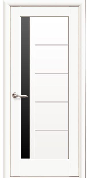 Межкомнатные двери Грета с черным стеклом greta-8
