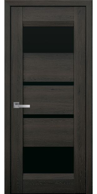 Межкомнатные двери Ибица с черным стеклом ibiza