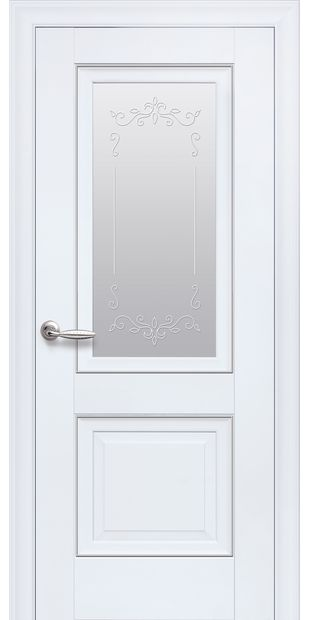 Межкомнатные двери Имидж Со стеклом сатин, молдингом и рисунком  imidz-1