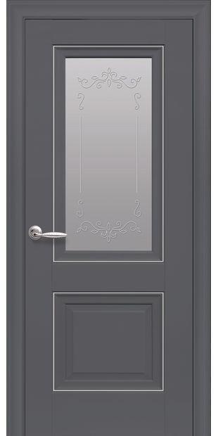 Межкомнатные двери Имидж Со стеклом сатин, молдингом и рисунком  imidz-5