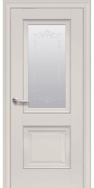 Межкомнатные двери Имидж Со стеклом сатин, молдингом и рисунком  imidz-6