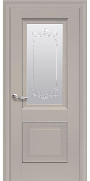 Межкомнатные двери Имидж Со стеклом сатин, молдингом и рисунком  imidz-7