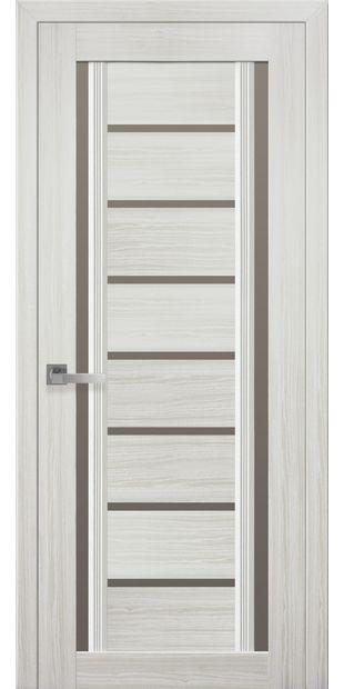 Межкомнатные двери Флоренция С2 с бронзовым стеклом italjano-florencija-s2-smart-zhemchug-belyj-s-bronzovym-steklom