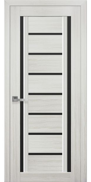 Межкомнатные двери Флоренция С2 с черным стеклом italjano-florencija-s2-smart-zhemchug-belyj-s-chernym-steklom