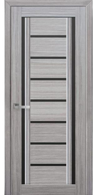 Межкомнатные двери Флоренция С2 с черным стеклом italjano-florencija-s2-smart-zhemchug-serebrjanyj-s-chernym-steklom
