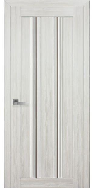 Межкомнатные двери Верона С1 с бронзовым стеклом italjano-verona-s1-smart-zhemchug-belyj-s-bronzovym-steklom