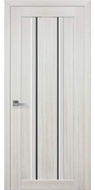 Межкомнатные двери Верона С1 с черным стеклом italjano-verona-s1-smart-zhemchug-belyj-s-chernym-steklom