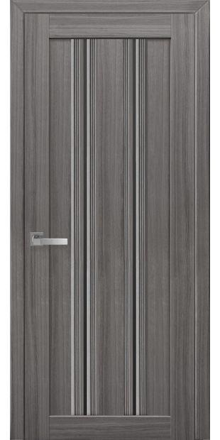 Межкомнатные двери Верона С1 italjano-verona-s1-smart-zhemchug-grafit-s-chernym-steklom