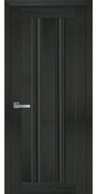 Межкомнатные двери Верона С1 italjano-verona-s1-smart-zhemchug-kofejnyj-s-chernym-steklom