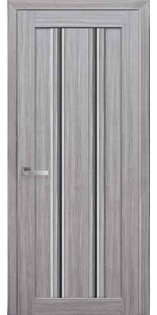 Межкомнатные двери Верона С1 italjano-verona-s1-smart-zhemchug-serebrjanyj-s-chernym-steklom
