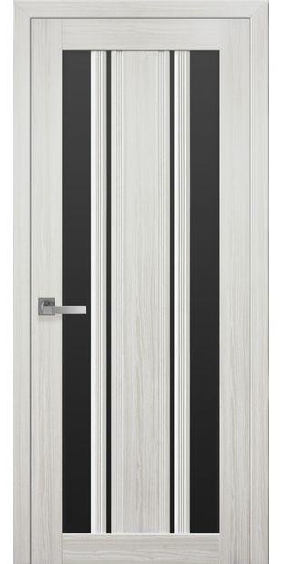 Межкомнатные двери Верона С2 с черным стеклом italjano-verona-s2-smart-zhemchug-belyj-s-chernym-steklom