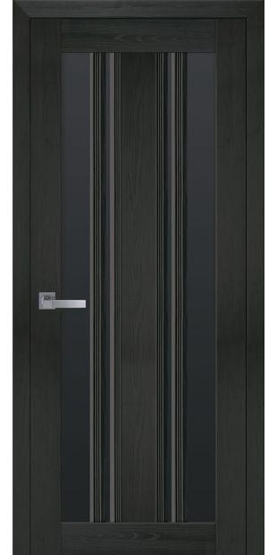 Межкомнатные двери Верона С2 с черным стеклом italjano-verona-s2-smart-zhemchug-kofejnyj-s-chernym-steklom