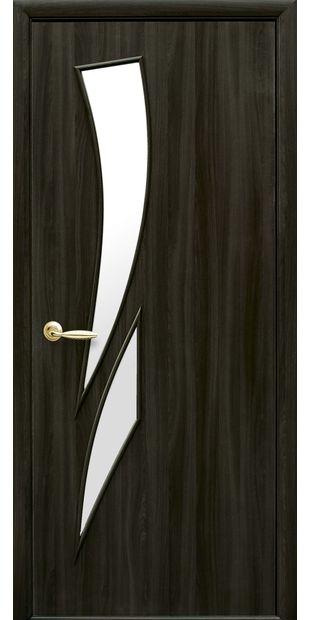 Межкомнатные двери Камея со стеклом сатин kamea-34