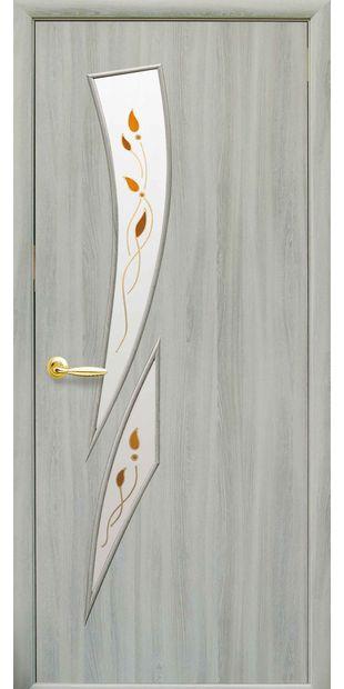 Межкомнатные двери Камея со стеклом сатин и рисунком kamea-37 kamea-37