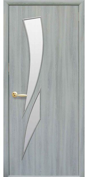 Межкомнатные двери Камея со стеклом сатин kamea-38