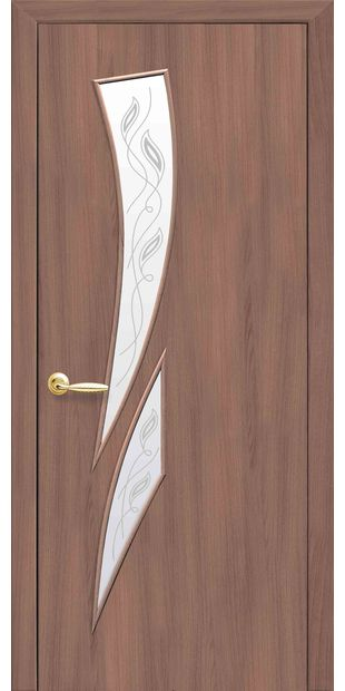Межкомнатные двери Камея со стеклом сатин и рисунком Р2 kamea-39