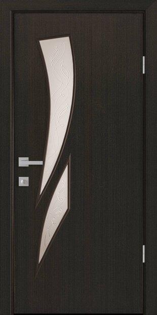 Межкомнатные двери Камея со стеклом сатин и рисунком kamea-40