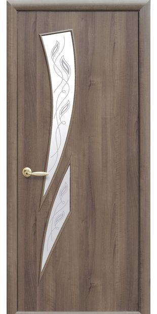 Межкомнатные двери Камея со стеклом сатин и рисунком Р2 kamea-5