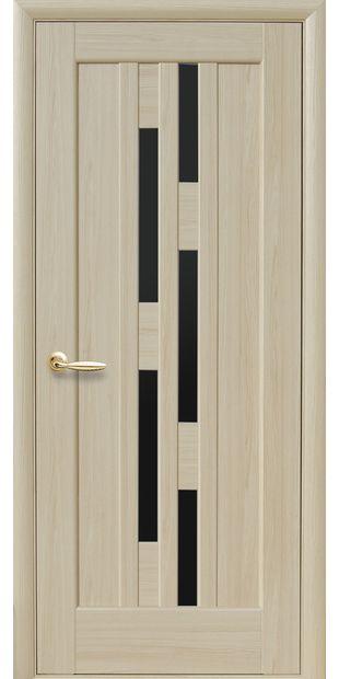 Межкомнатные двери Лаура с черным стеклом laura-11