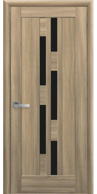 Межкомнатные двери Лаура с черным стеклом laura-13