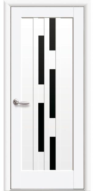 Межкомнатные двери Лаура с черным стеклом laura-2