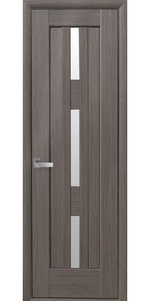 Межкомнатные двери Лаура (600мм) со стеклом сатин laura-600mm