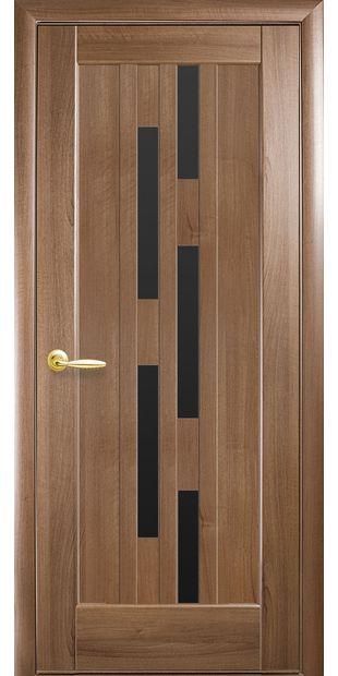Межкомнатные двери Лаура с черным стеклом laura-7