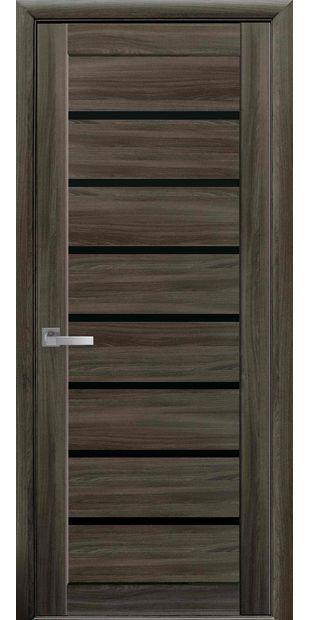 Межкомнатные двери Леона с черным стеклом leona-1