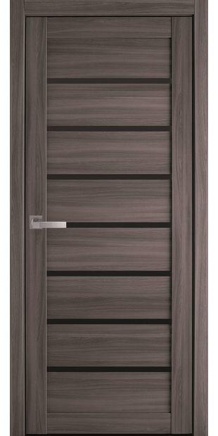 Межкомнатные двери Леона с черным стеклом leona-blk-dub-atlant