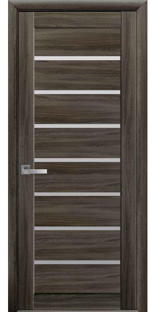 Межкомнатные двери Леона со стеклом сатин leona