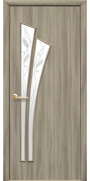 Межкомнатные двери Лилия со стеклом сатин и рисунком lilia-26