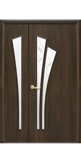 Межкомнатные двери Лилия со стеклом сатин и рисунком lilia-65