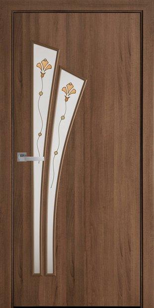 Межкомнатные двери Лилия со стеклом сатин и рисунком lilia-66
