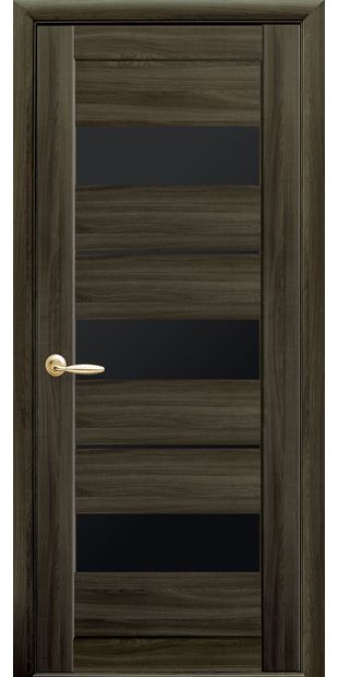 Межкомнатные двери Лилу с черным стеклом lilu-11