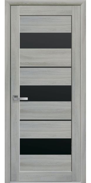 Межкомнатные двери Лилу с черным стеклом lilu-14