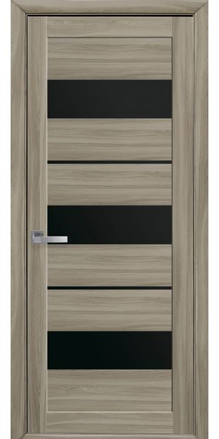 Межкомнатные двери Лилу с черным стеклом lilu-15