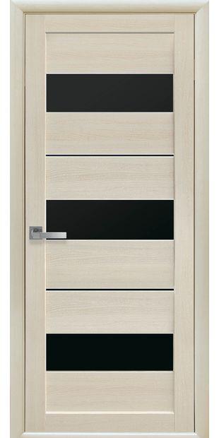 Межкомнатные двери Лилу с черным стеклом lilu-16