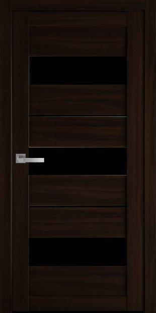 Межкомнатные двери Лилу с черным стеклом lilu-24